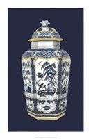 Asian Urn in Blue & White II Fine Art Print