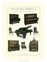 Pianos, Organ & Chairs 1876 Fine Art Print