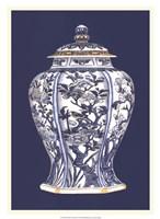 """Blue & White Porcelain Vase I by Vision Studio - 19"""" x 26"""""""