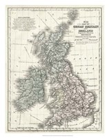 Mitchell's Map of Great Britain & Ireland Fine Art Print