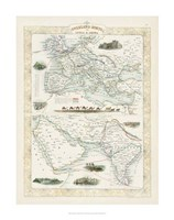 Overland Routes- India & China Fine Art Print