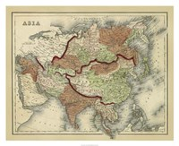 Antique Map of Asia Fine Art Print