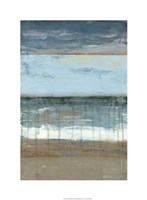 "Coastal Abstract II by Jennifer Goldberger - 22"" x 30"""