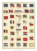 "22"" x 30"" World Flags"
