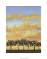 "Treeline Sunset I by Jennifer Goldberger - 24"" x 30"", FulcrumGallery.com brand"