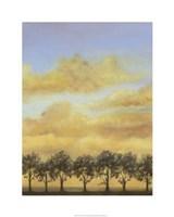 "Treeline Sunset II by Jennifer Goldberger - 24"" x 30"", FulcrumGallery.com brand"