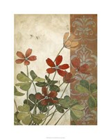 "Red Antique Floral I by Megan Meagher - 24"" x 30"""