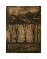 Bronzed Treeline II Framed Print