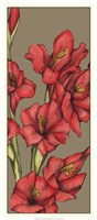"Graphic Flower Panel II by Jennifer Goldberger - 15"" x 33"""