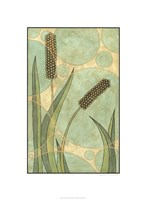 """Tranquil Cattails IV by Renee Stramel - 24"""" x 33"""""""