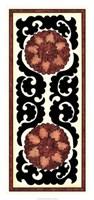 "Suzani Panel III by Chariklia Zarris - 16"" x 34"""