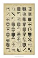 Vintage Heraldry I Fine Art Print