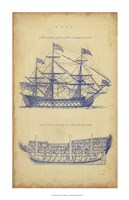 Vintage Ship Blueprint Fine Art Print