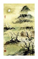 "Viewing Plum Blossoms in Moonlight by Nan Rae - 22"" x 34"""