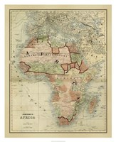 Antique Map of Africa Fine Art Print