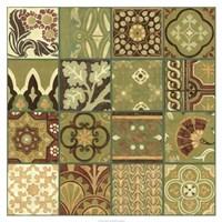 """Pistachio Patchwork I by Chariklia Zarris - 34"""" x 34"""", FulcrumGallery.com brand"""