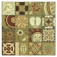 """Pistachio Patchwork II by Chariklia Zarris - 34"""" x 34"""", FulcrumGallery.com brand"""