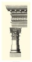 B&W Column & Cornice I Fine Art Print