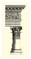 B&W Column & Cornice II Fine Art Print