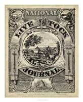 "National Livestock Journal - 36"" x 44"", FulcrumGallery.com brand"