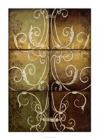 "Wrought Iron & Damask by Jennifer Goldberger - 33"" x 48"", FulcrumGallery.com brand"