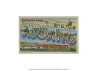 """Greetings from Wyoming - 13"""" x 10"""""""