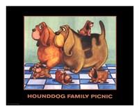 Hounddog Family Picnic Fine Art Print