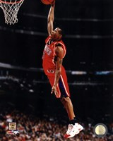 Allen Iverson 1997 Action Framed Print