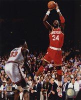 Hakeem Olajuwon Game 4 of the 1994 NBA Finals Action Fine Art Print