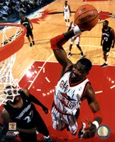 Hakeem Olajuwon 1999 Action Framed Print