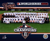 The Detroit Tigers 2012 American League Champions Team Photo Fine Art Print