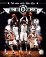 "Brooklyn Nets 2012-13 Team Composite - 8"" x 10"""