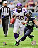 Adrian Peterson 2012 Action Framed Print