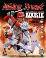 """Mike Trout 2012 American League Rookie of the year Composite - 8"""" x 10"""", FulcrumGallery.com brand"""