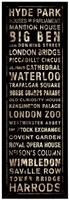 Transit London Black Fine Art Print