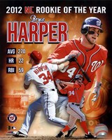Bryce Harper 2012 National League Rookie of the year Composite Fine Art Print