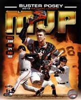Buster Posey 2012 National League MVP Composite Fine Art Print