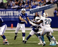 Andrew Luck breaks the NFL Rookie single game passing record, Lucas Oil Stadium- Indianapolis, IN November 4, 2012 Fine Art Print