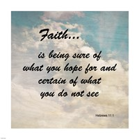 Faith Hebrews 11:1 Against the Sky - various sizes
