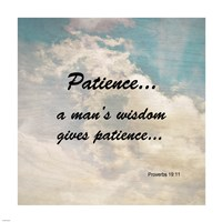 Patience Proverbs 19:11 Against the Sky Fine Art Print