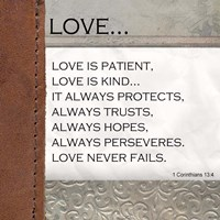 Love is Patient, Love is Kind Framed Print