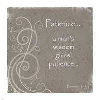 Patience Quote Framed Print