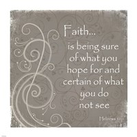 Faith Quote Framed Print