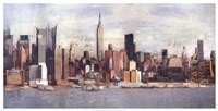 """New York Skyline by David Fischer - 41"""" x 21"""""""