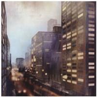 """Twilight City by David Fischer - 28"""" x 28"""""""