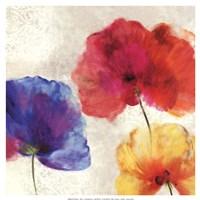 "Lush Floral I (watercolour florals) by Asia Jensen - 19"" x 19"""