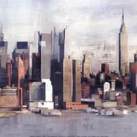 """New York Skyline I by David Fischer - 12"""" x 12"""""""