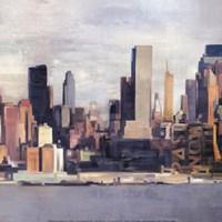 """New York Skyline II by David Fischer - 12"""" x 12"""""""