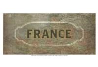 "Vintage Sign - France by Lev Raskolnikov - 19"" x 13"", FulcrumGallery.com brand"