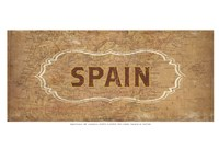 """Vintage Sign - Spain by Lev Raskolnikov - 19"""" x 13"""", FulcrumGallery.com brand"""